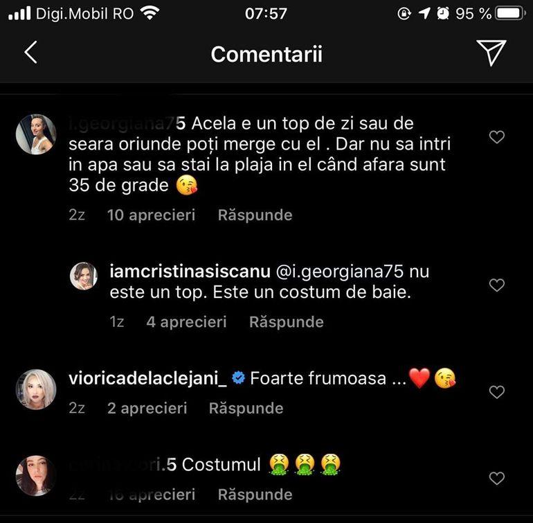 """Cristina Șișcanu a stârnit controverse în mediul online. Costumul de baie al vedetei, luat în vizor de fani: """"Parcă e făcut din material de canapea"""""""