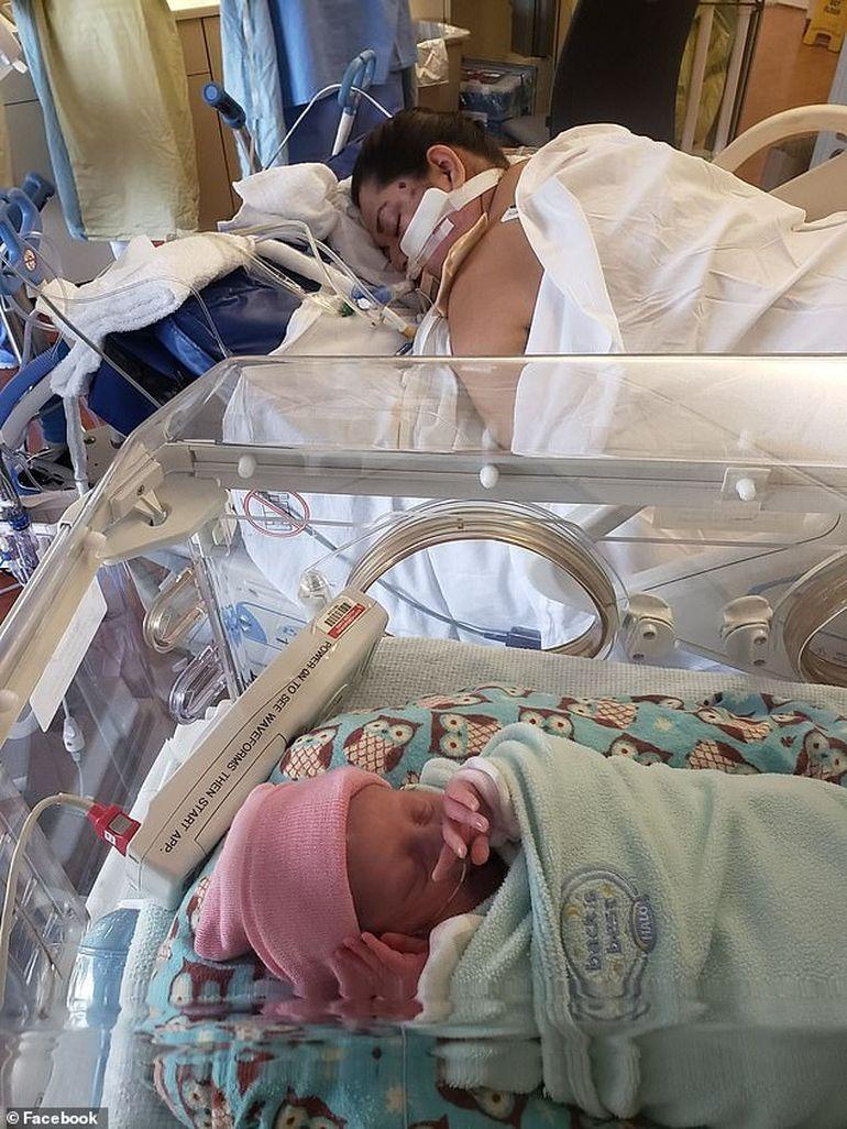 O mămică infectată cu COVID-19 și ventilată mecanic a murit la scurtă vreme după ce a născut. Nu a apucat să-și vadă copilul