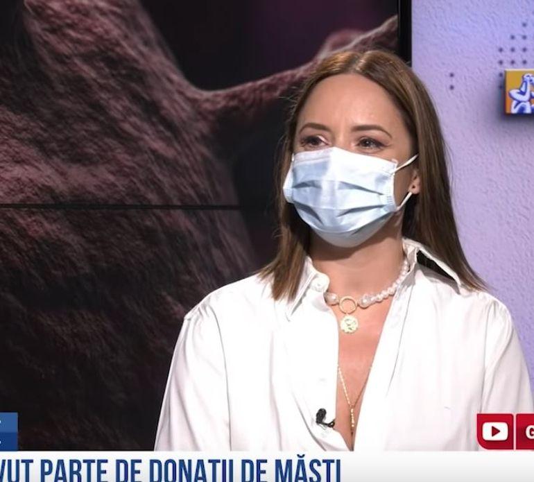 """Andreea Marin a refuzat să-și dea jos masca în timpul unui interviu în studio! Vedeta a cerut """"măsuri ferme de interdicție"""" pentru stoparea noului coronavirus"""