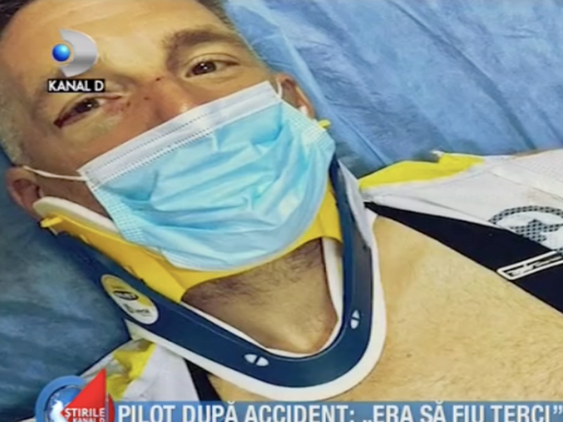 Alex Filip, acroșat de o mașină