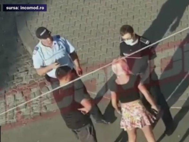 Jandarm, scuipat și luat la bătaie de o tânără