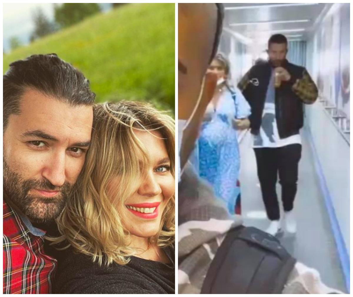 Ce burtică mare are Gina Pistol! Era cu Smiley pe aeroport și au încercat să se ascundă VIDEO