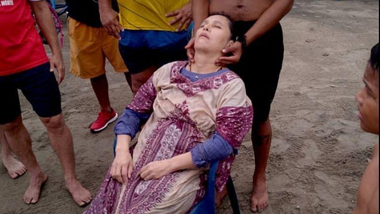 Imagini incredibile! Angelica, o femeie dispărută de doi ani, găsită în viață plutind pe mare!