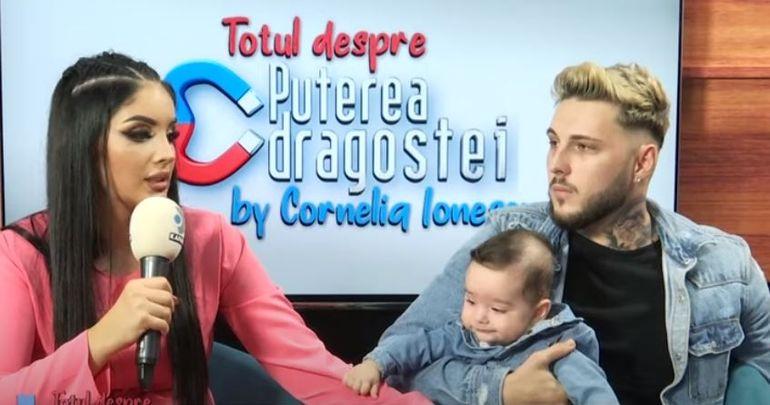 Prima apariție publică a lui Dominic, fiul Siminei și a lui Alex Zănoagă de la Puterea Dragostei