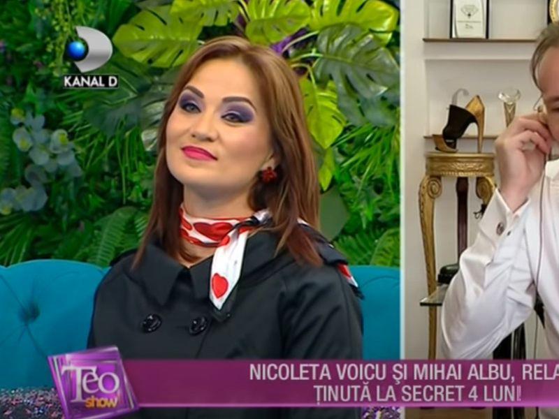 Nicoleta Voicu și Mihai Albu, în emisiunea Teo Show