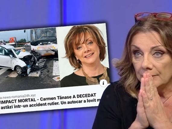 """""""Carmen Tănase a decedat"""". Reacția actriței după ce a văzut știrea că a murit într-un accident"""