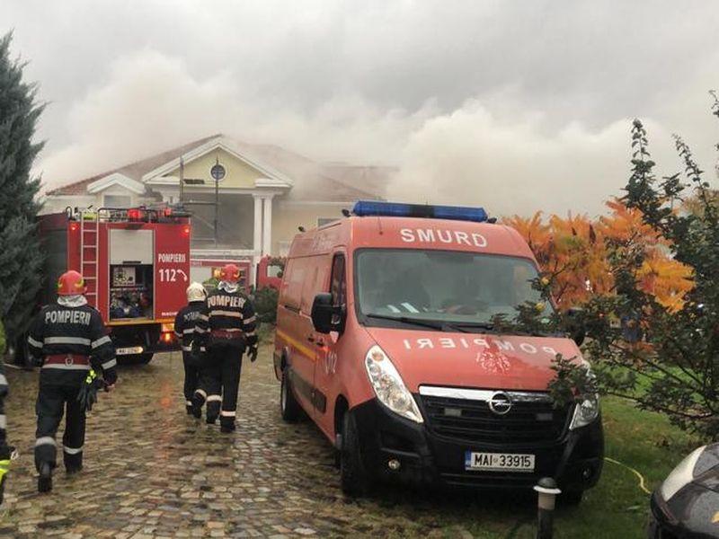 Izvorani: Fosta vilă a lui Irinel Columbeanu, mistuită de flăcări!