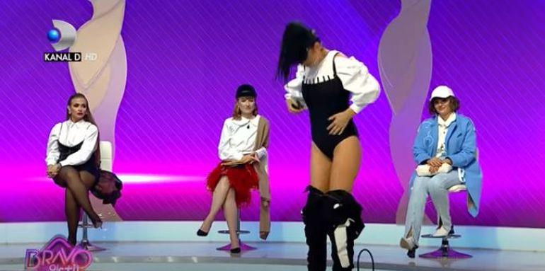 """Moment incendiar la """"Bravo ai stil!Celebrities""""! Andreea Tonciu s-a dezbrăcat în fața juraților : """"Îmi dau pantalonii jos și..."""" FOTO"""