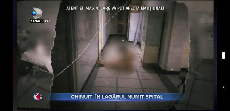 Imagini șocante de la Spitalul de Urgență din Reșița! Pacienți infectați cu COVID-19, ținuți dezbrăcați pe holuri