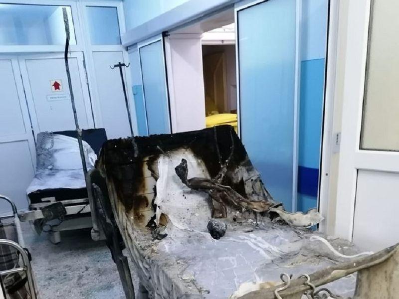 Incendiu la Spitalului Municipal Roman