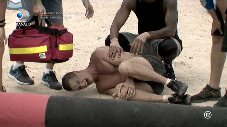 Imaginile durerii la Survivor România 2021. Accidentări teribile! Medicul nu mai făcea față! A fost nevoie de ambulanță