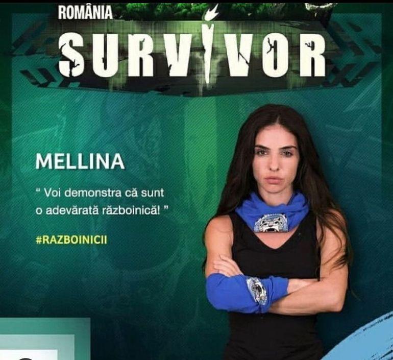 Mellina de la Survivor România 2021, femeie fatală pe Instagram. Cum arată Războinica machiată și coafată. Transformarea e ireală FOTO