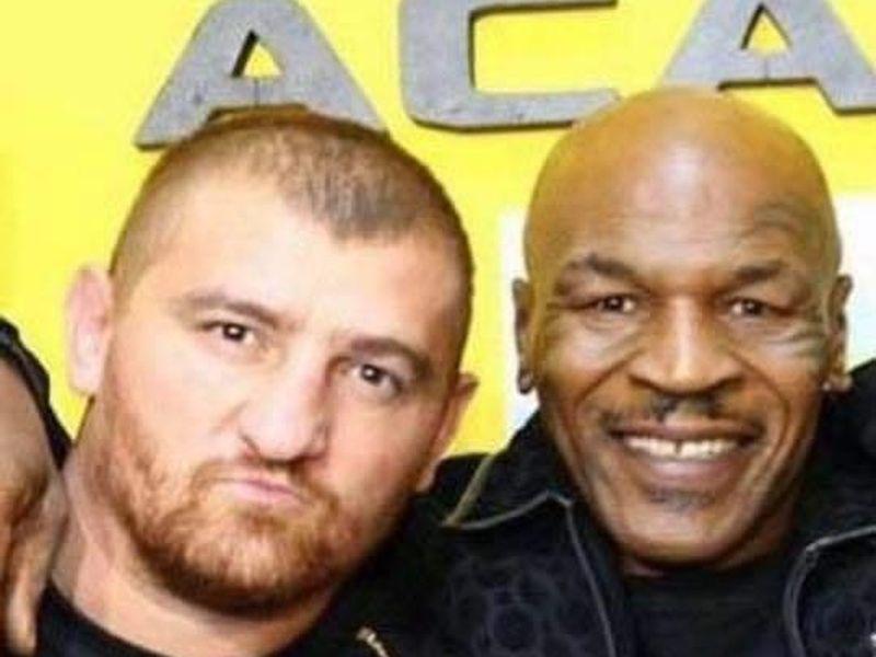 Cătălin Moroșanu și Mike Tyson