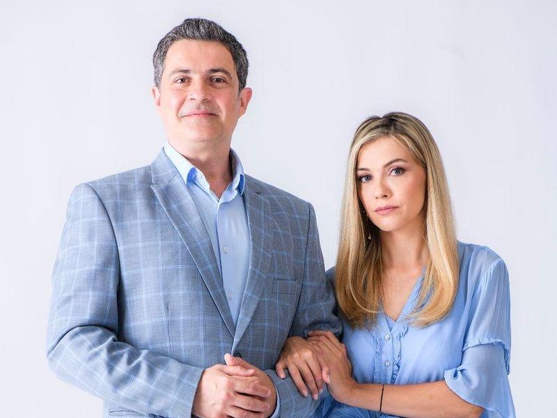 Andreea Ibacka și Mihai Călin, soț și soție în serialul Adela