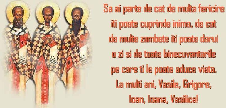 Mesaje de La Mulți Ani pentru Vasile, Grigore și Ioan. Cele mai frumoase urări și felicitări de Ziua Sfinților Trei Ierarhi