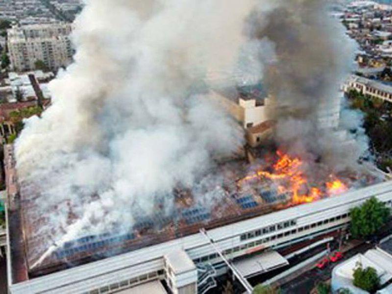 Incendiu într-un spital din Chile.