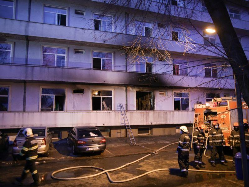 Incendiul de la Spitalul Matei Balș din Capitală