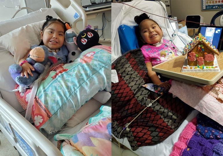 Stella, fetița de patru ani, paralizată pe viață din cauza coronavirusului, care i-a luat și tatăl