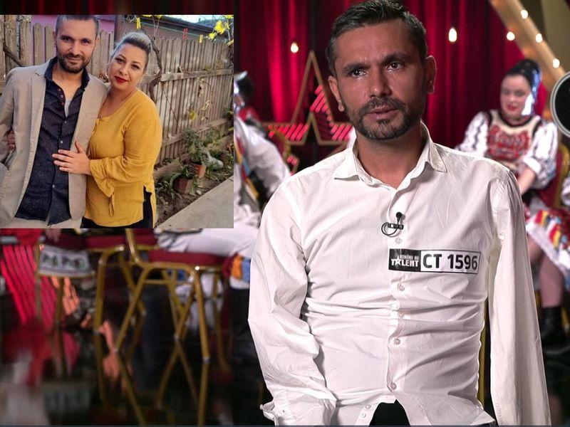 Vezi ce soție frumoasă are Cornel Marin, pictorul fără mâini, de la Românii au Talent, sezonul 11