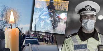 Ionuț Negrilă, polițistul mort în Piața Constituției, a fost condus pe ultimul drum