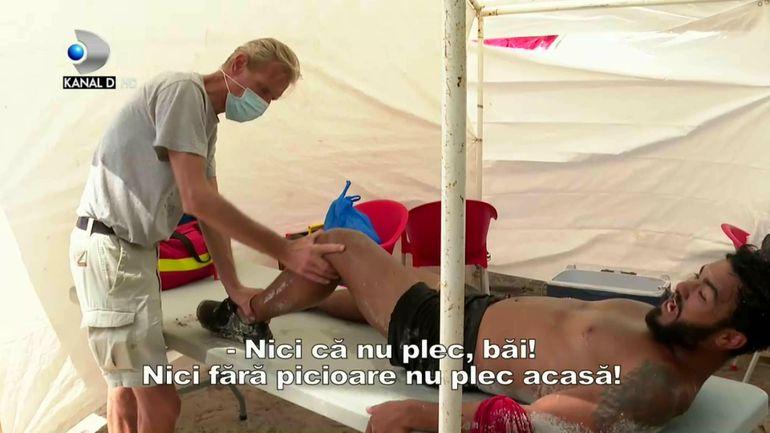 """Jador, în pericol de eliminare după ce s-a accidentat grav pe traseu la Survivor România. """"Gata, l-am rupt, plec acasă!"""" Momentul accidentării, greu de privit VIDEO"""