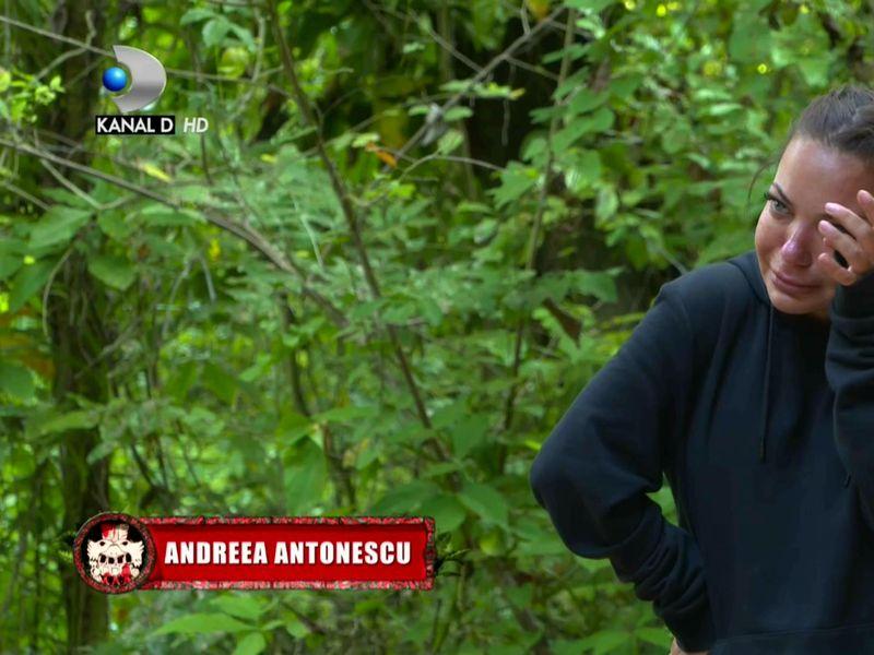 Andreea Antonescu plânge pentru prima dată la Survivor România