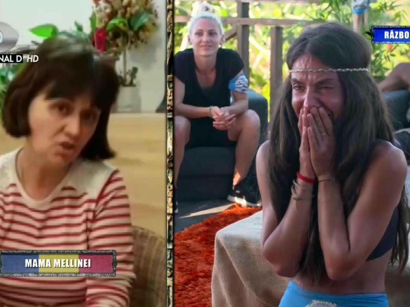 Mellina, desfigurată de durere când își vede mama la Survivor România