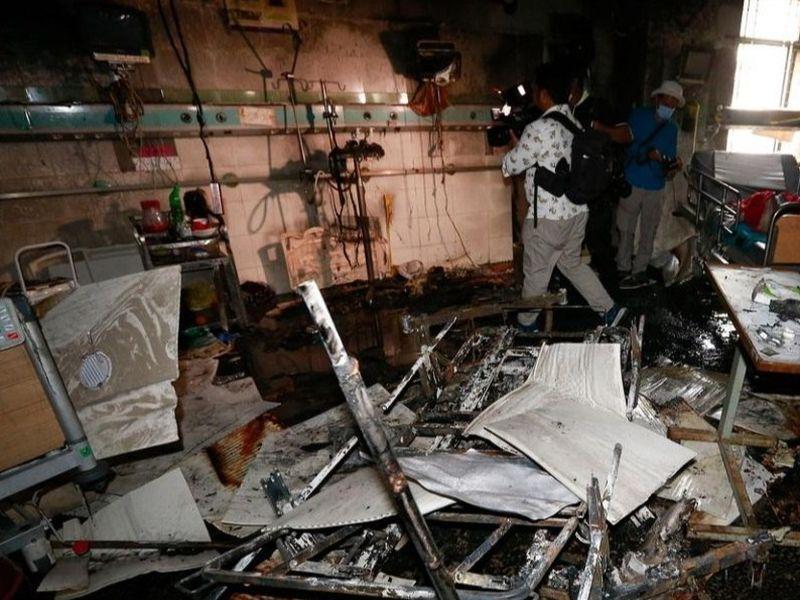 Un incendiu a izbucnit în secţia ATI Covid a unui spital din Bangaldesh