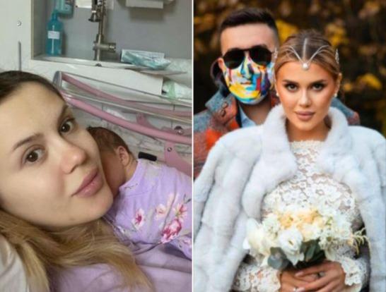Soțul lui Emily Burghelea a primit vestea de la spital! Ce se întâmplă cu vedeta, după ce a născut?