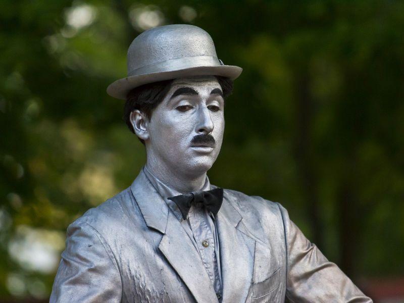 Charlie Chaplin., celebrul actor de filme mute