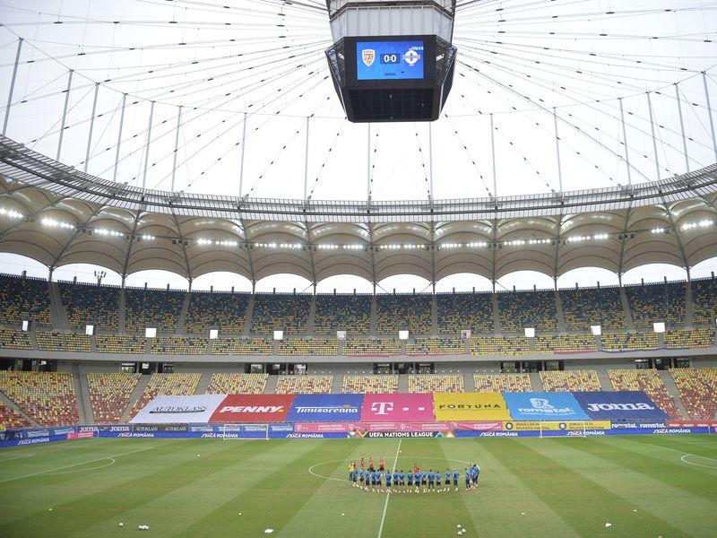 Fani în tribune pe Arena Națională la EURO 2020