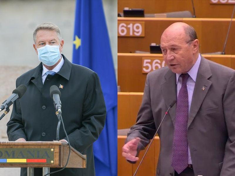 Klaus iohannis și Traian Băsescu