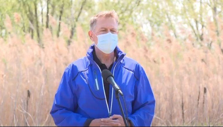 Ziua Pământului. Klaus Iohannis, vizită în Parcul Național Văcărești: