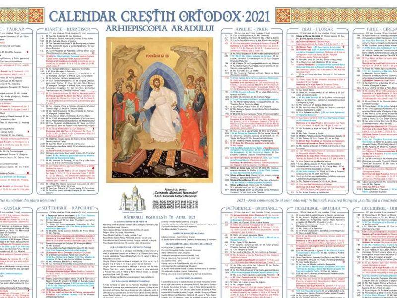 Calendar Ortodox Mai 2021