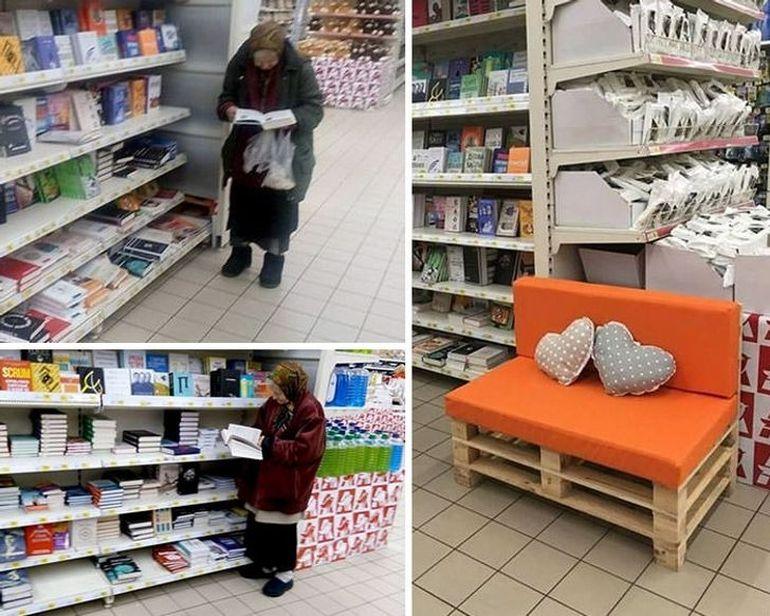 O bătrânică a impresionat o lume întreagă: mergea la supermarket doar pentru a citi cărți. Managerul magazinului i-a făcut o surpriză!