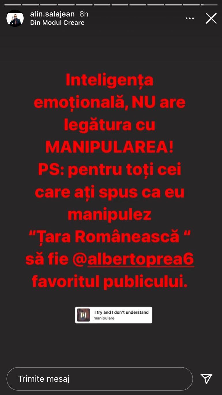 """Alin Sălăjean, reacție acidă după ce Albert a ieșit favoritul publicului: """"Nu are legătură cu manipularea"""""""