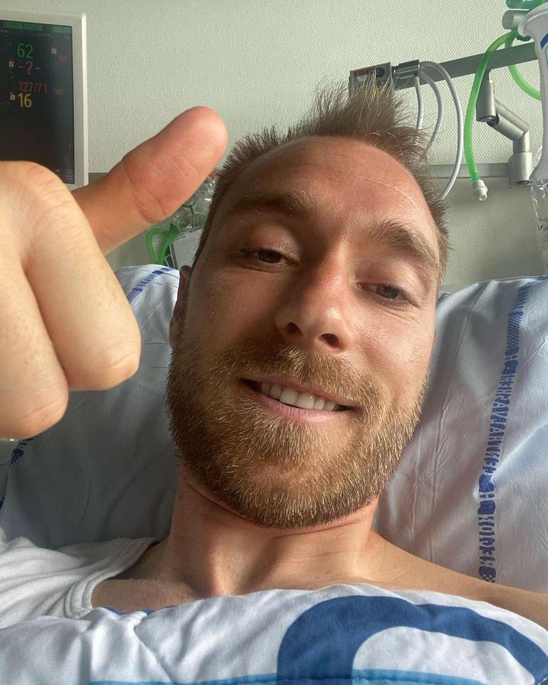 """Christian Eriksen s-a fotografiat pe patul de spital! Primul mesaj al fotbalistului: """"Mă simt..."""""""