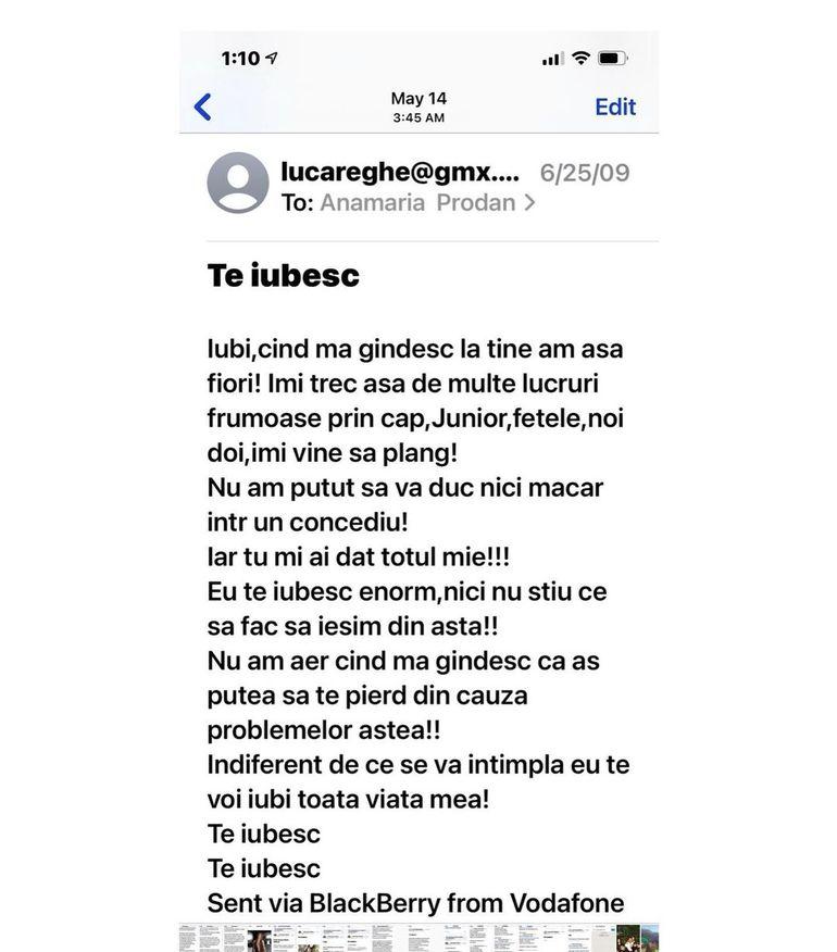 """Anamaria Prodan a publicat mesajele de dragoste primite de la Reghe! Ce spune despre presupusa amantă: """"Oricine greșește din familie..."""""""