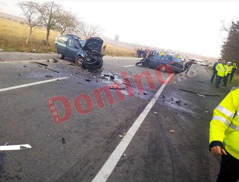 FOTO   Un pusti de 19 ani a produs un accident cu opt victime in Gorj!