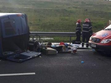 Accident grav in apropiere de Sibiu! O persoana a murit si alte cinci au fost grav ranite