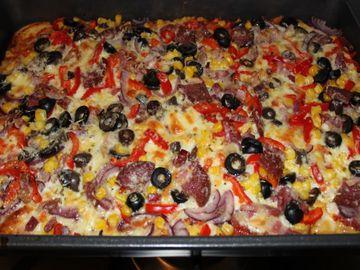 Pizza de casa! Cea mai simpla si rapida reteta