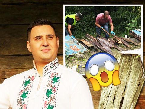 Descoperire macabra in satul natal al lui Ciprian Tapota Lataretu! Un sicriu vechi, plin cu oase, a fost gasit intr-un sant in satul gorjean Lelesti
