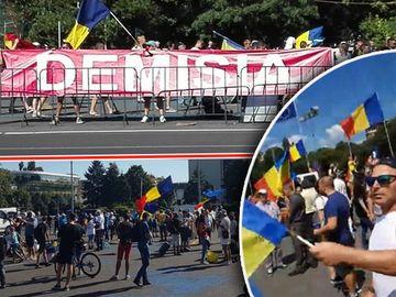 Romanii protesteaza in Piata Victoriei! Ce se intampla acum in fata Guvernului VIDEO