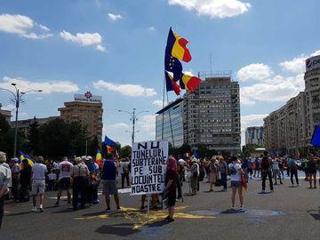 Femeia care i-a socat pe protestatarii din Piata Victoriei! De ce a fost luata de jandarmi din mijlocul multimii