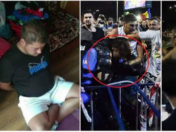 Trei dintre cei care au agresat-o pe femeia-jandarm in Piata Victoriei au fost retinuti