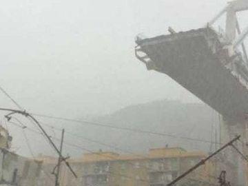 Un pod-autostrada, de 100 de metri, s-a prabusit in Italia! Ar fi zeci de morti!