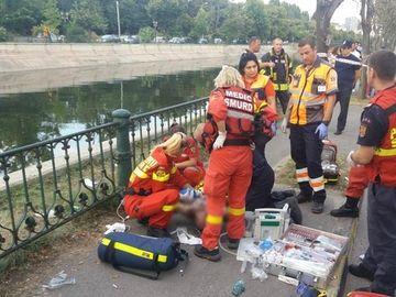 Tragedie in Capitala! 3 oameni au cazut in raul Dambovita! Unul a murit