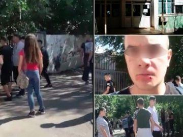 Atac cu cuţite la un liceu din Bucureşti! 11 elevi au fost bătuţi, unul e în stare gravă