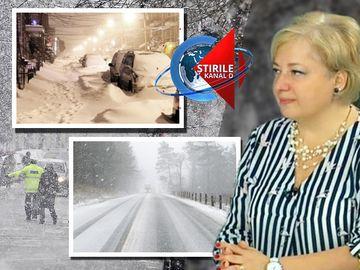 Iarna loveste din nou! Unde va ninge, aflati in direct de la Directorul Executiv al A.N.M., Florinela Georgescu, invitat special la Stirile Kanal D
