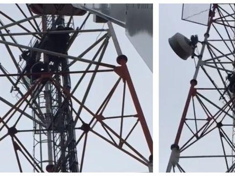 Imaginile groazei! Un tanar din Arad a vrut sa se sinucida, aruncandu-se de la 35 de metri inaltime. Totul a fost filmat